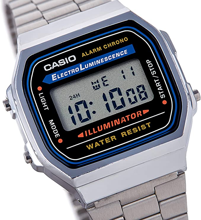 Casio Mens Vintage A168WA-1 Electro Luminescence Watch