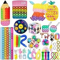 Pacote de brinquedos TikTok Fidget com 42 peças, brinquedos Pop It Fidget com calculadora sensorial de arco-íris e…