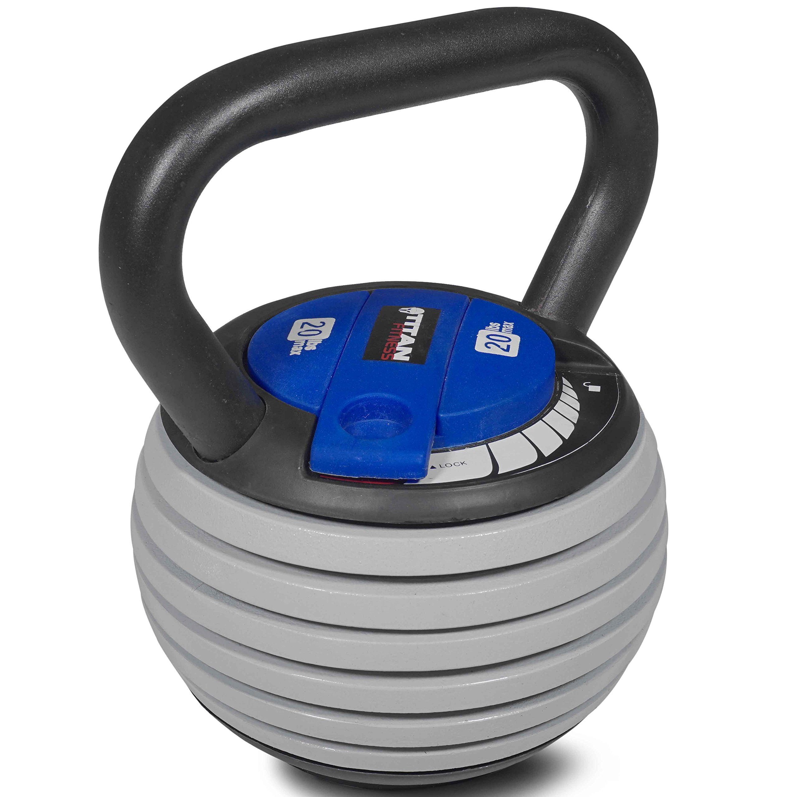 Titan Fitness 5-20 lb Adjustable Kettlebell Weight Lifting Swing Workout by Titan Fitness