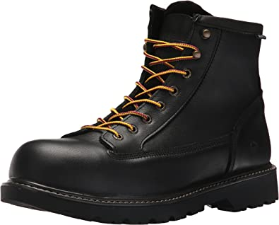 Wolverine Mens 6 Leather Steel Toe Waterproof Work Boot
