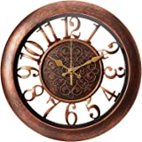 Adalene Wall Clocks Battery Operated Non Ticking - Completely Silent Quartz Movement - Vintage Rustic Clocks for Living…