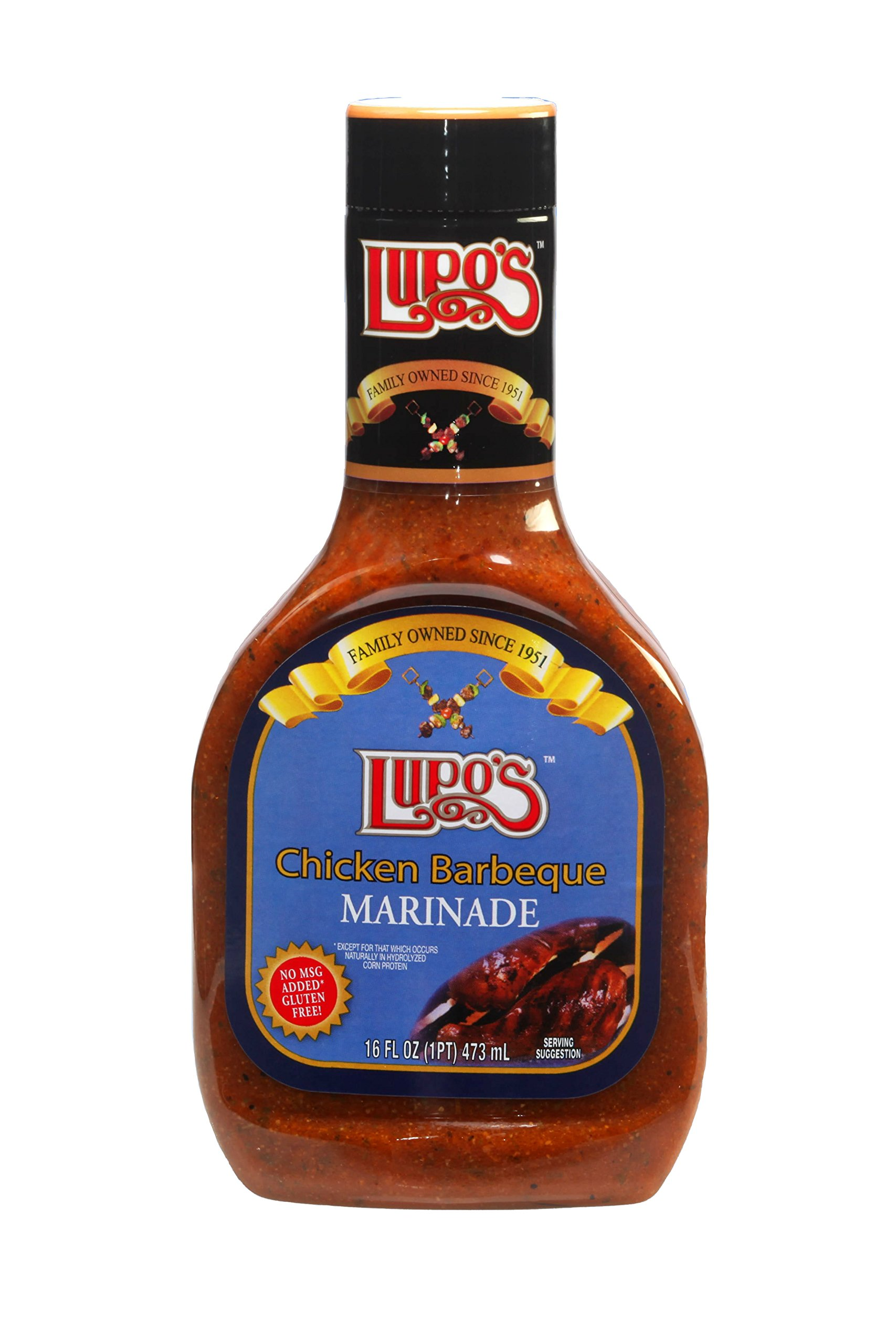 Lupo's Chicken Barbecue Marinade 16 Oz