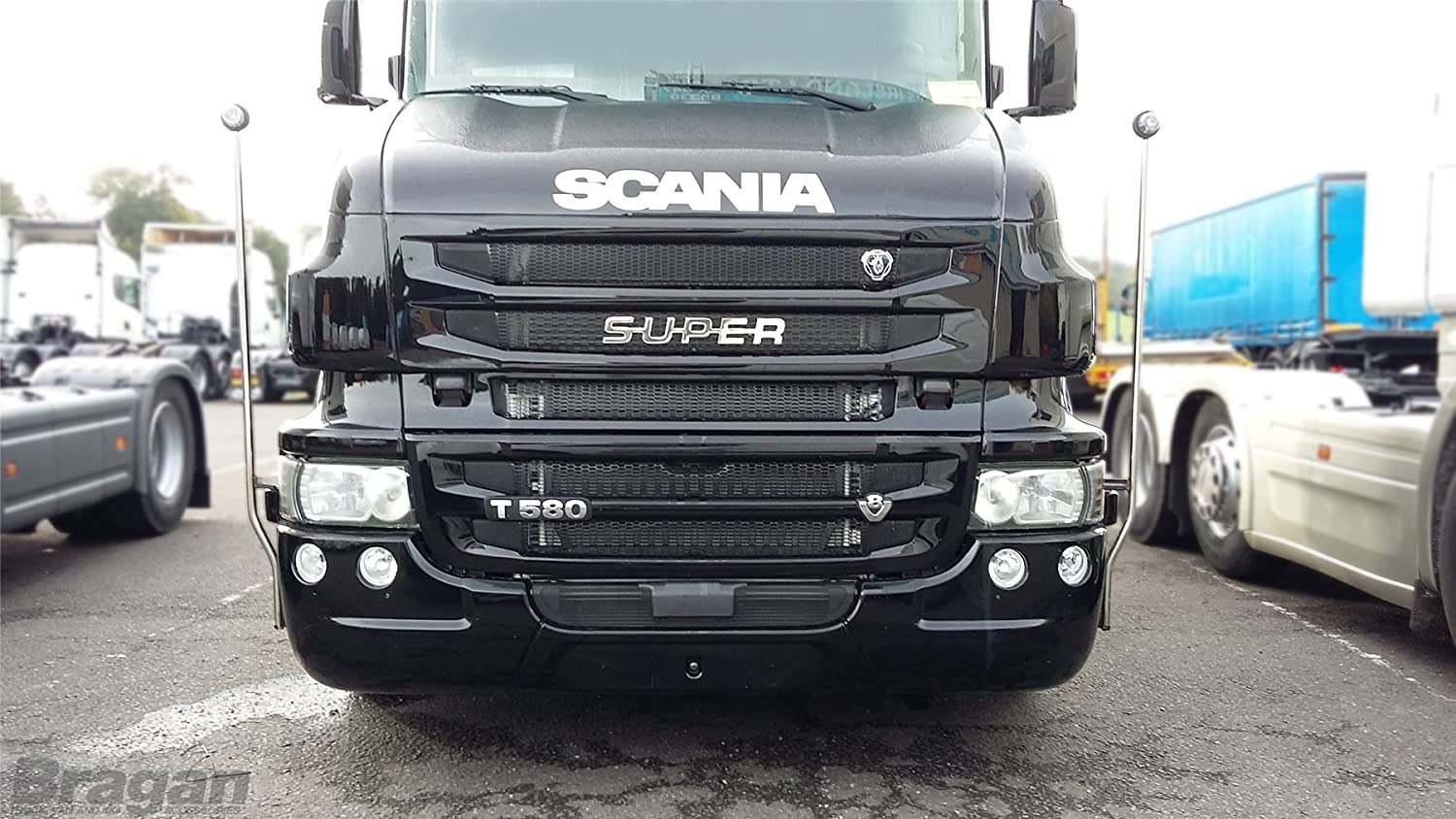 SCANIA R SERIES Stainless Steel Chrome R 520 Polished Number Cover Grill Model Badge