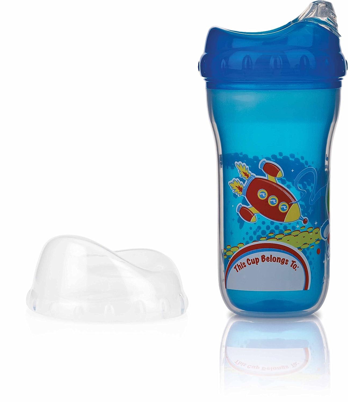 N/ûby Tasses dApprentissage Mod/èle al/éatoire bec souple anti-goutte +18 mois Gobelet polypropyl/ène 270 ml isotherme