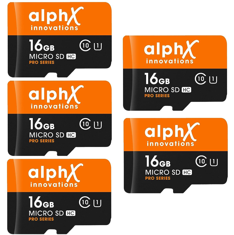 AlphX - Juego de 7 Tarjetas de Memoria Micro SD de Alta ...