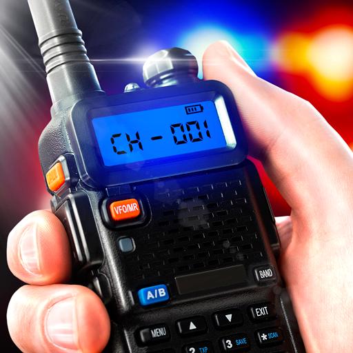 Police walkie-talkie radio