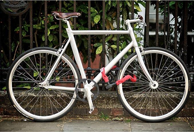 Abus Steel-O-Chain 880 - Candado de Cable para Bicicletas (85 cm), Color Rojo: Amazon.es: Deportes y aire libre