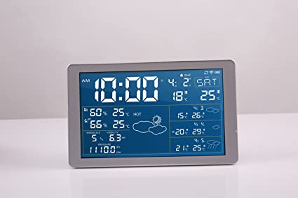 DND 7.1 LCD Blue Display WIFI Weather Clock Home Thermometer IOS/Android App Control