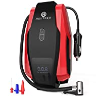 Helteko Portable Air Compressor Pump 150PSI 12V - Digital Tire Inflator - Auto Tire Pump with