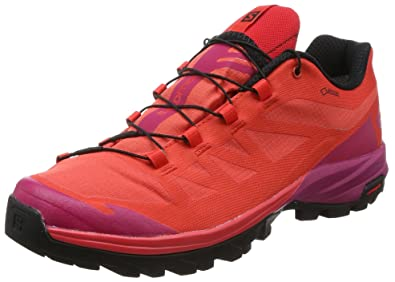 hot sale online 0ac5c 087cb Salomon Women s OUTpath GTX Hiking Sneakers Poppy Red Sangria   Black 7