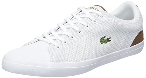 8bcdd17dd85369 Lacoste Men s Lerond 318 1 Cam Trainers White (Wht Tan 291) 7.5 UK ...