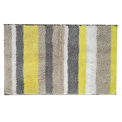 HEBE Microfiber Bath Rugs Non Slip Mats For Bathroom Step Out Shower