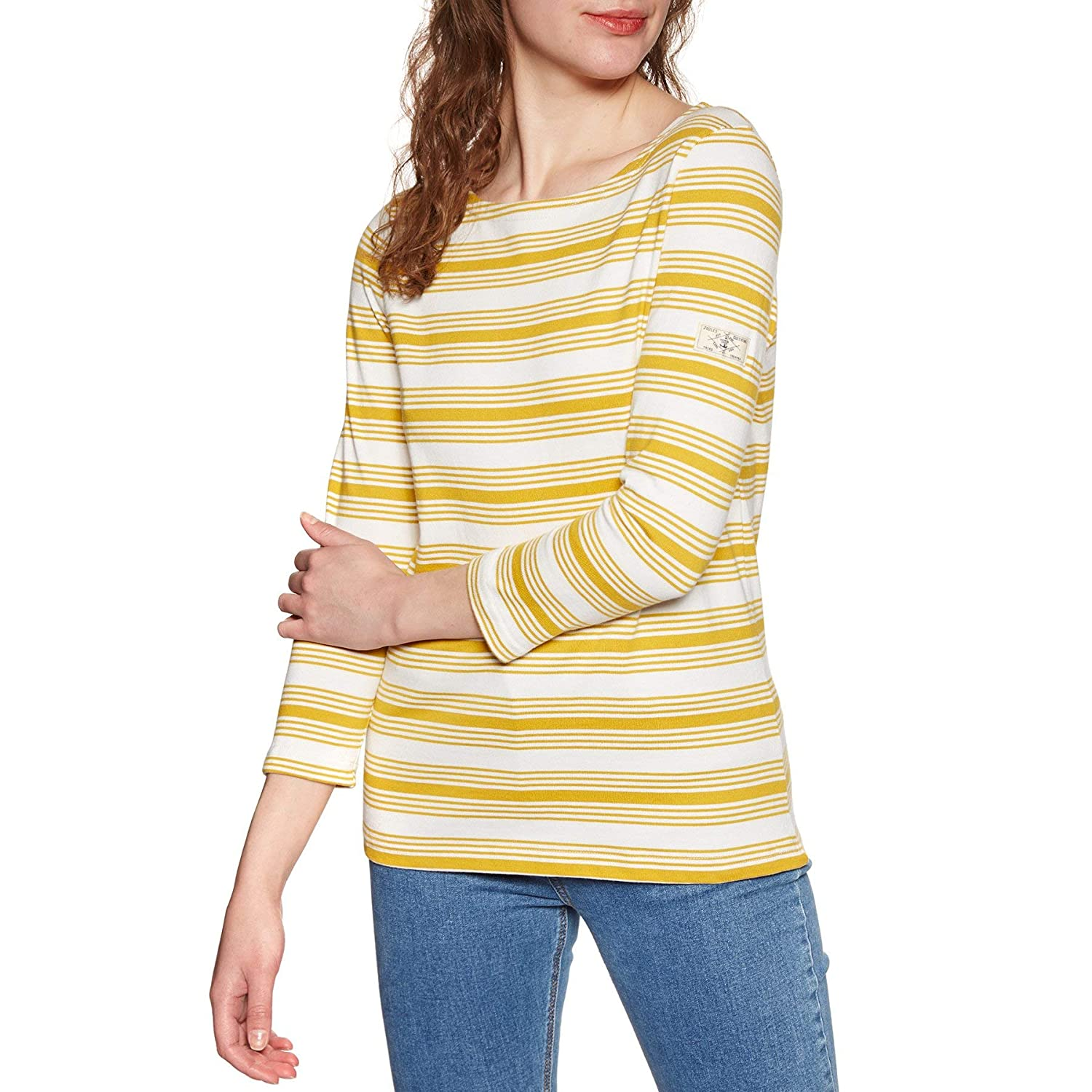 gold Stripe Joules Women's Harbour Tee