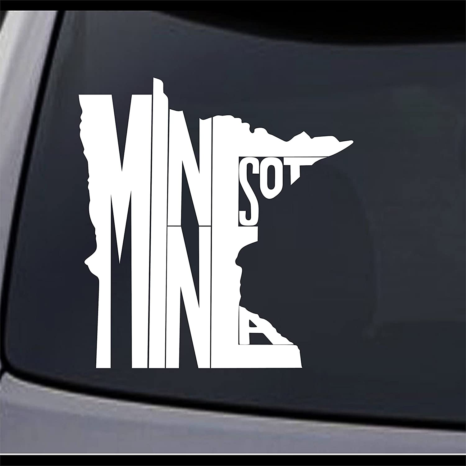 "(3X) Minnesota State Map MN Home State Symbol Sign Vinyl Decal Sticker 6"" x 5.6"""