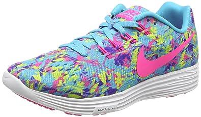 the best attitude 4a3ea dab2a Amazon.com | Nike Lunartempo 2 Print Gamma Blue/Volt/Persian ...