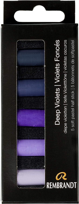 Rembrandt Soft Pastel Micro Set, 5-Piece Half Sticks, Deep Violets