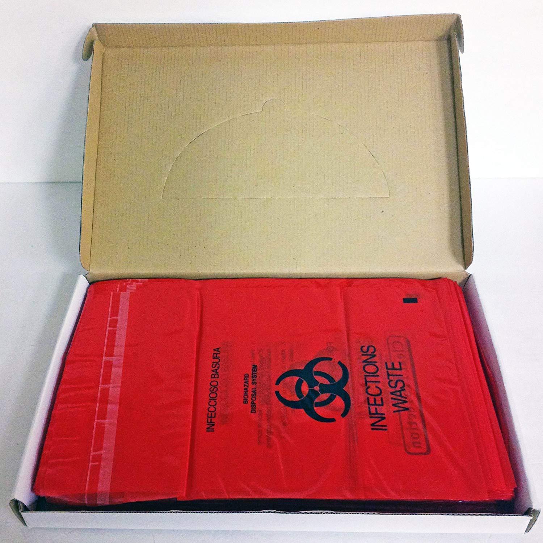 Plasdent PS-850 Bio Hazard Waste Bags (9'x10'') 200/pk by Plasdent