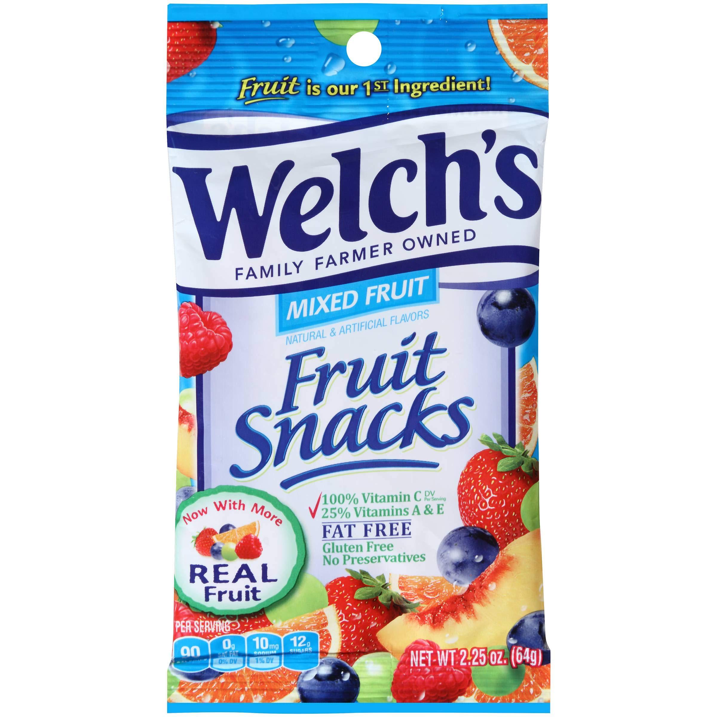 Welchs Mixed Fruit Snacks, 2. 25 Ounce -- 48 per case.