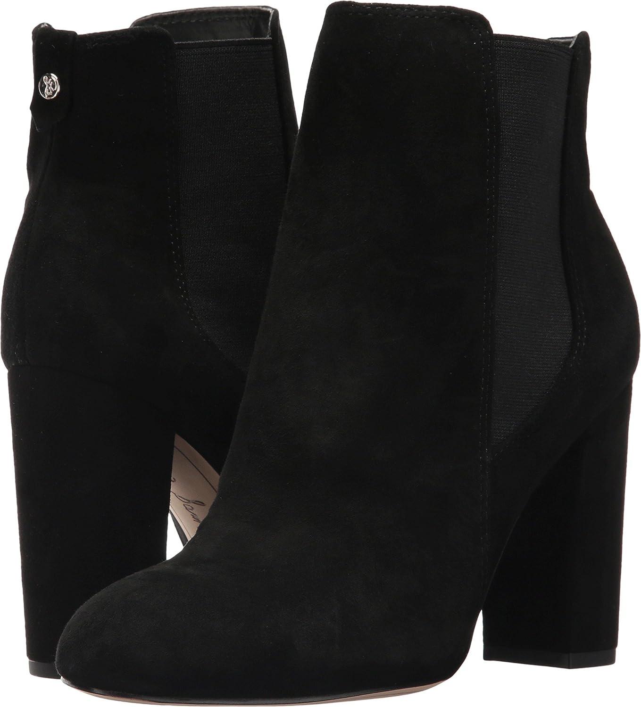 Sam Edelman Women's Case Chelsea Boot B06ZZN33RZ 5 B(M) US|Black Kid Suede Leather