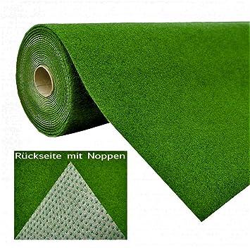 Sehr Rasenteppich Kunstrasen mit Noppen Grün | Höhe: 5,5 mm | Gewicht XS98