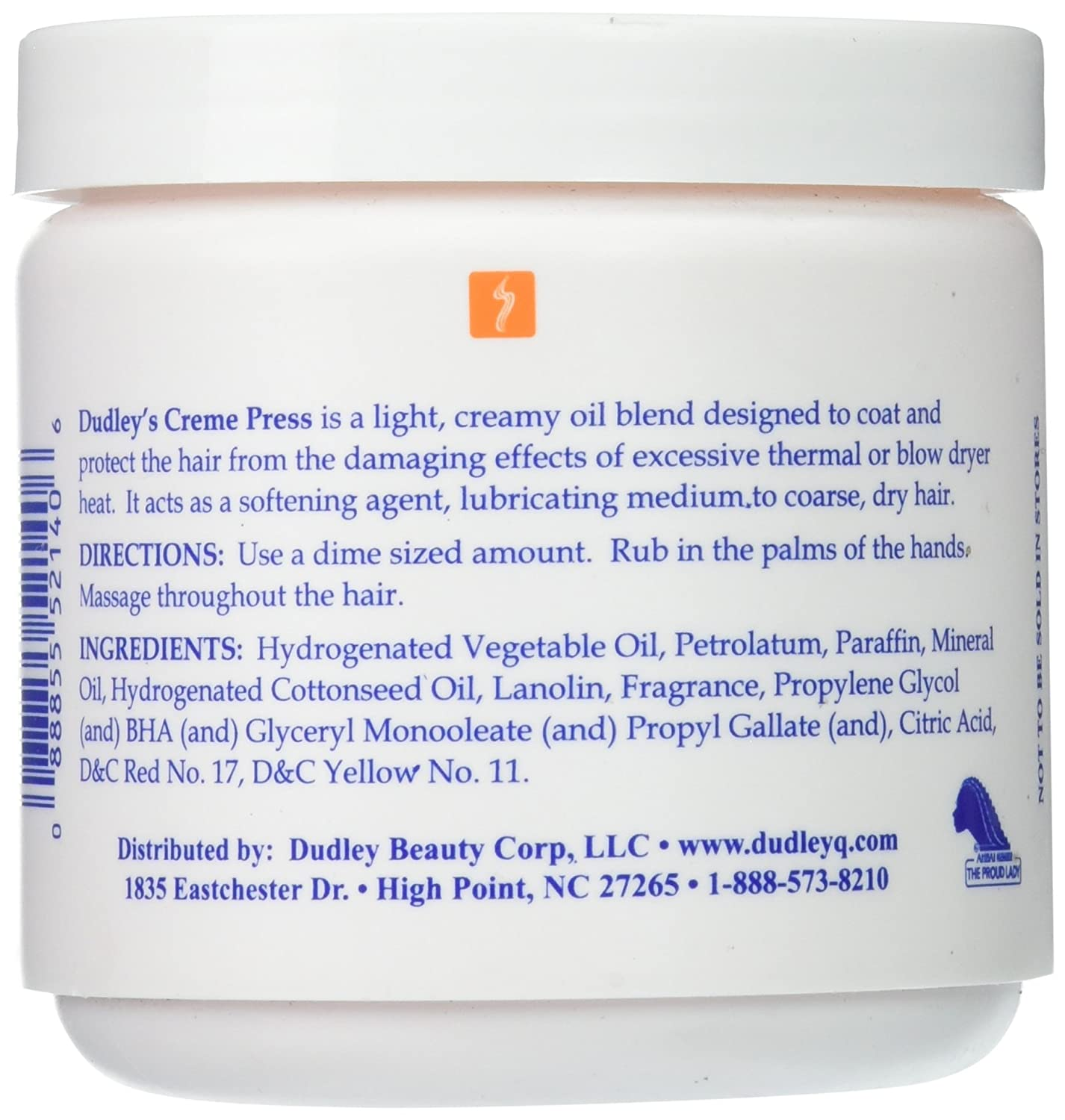 Dudley s Creme Press Pressing Oil for Unisex, 14 Ounce