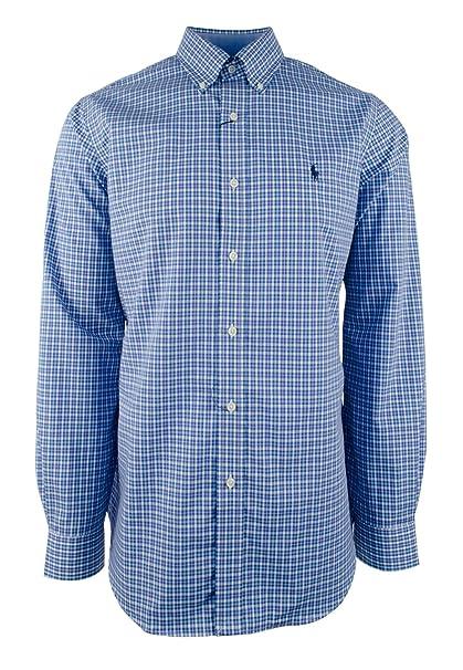 Polo Ralph Lauren Plaid Poplin Sport Shirt Button Down Classic Long