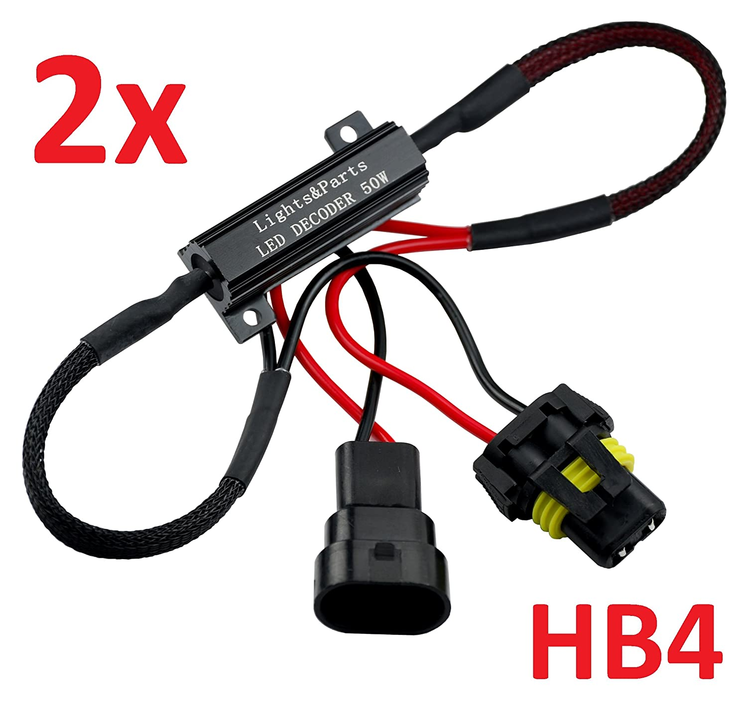 L/&P B541/2pcs HB4/9006/Canbus Plug/&Play load resistor for LED SMD lamps without error message