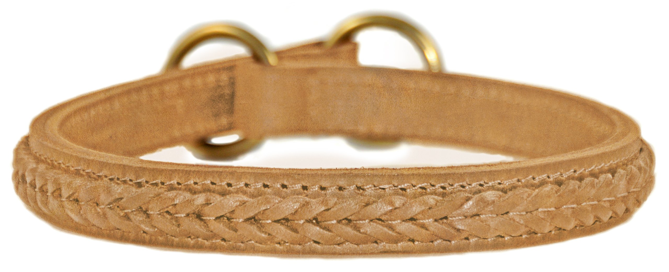 Dean and Tyler ''CLASSY KIER'', Dog Choke Collar with Braided Design and Brass Hardware - Tan - Size 22-Inch by 1-Inch - Fits Neck 20-Inch to 22-Inch