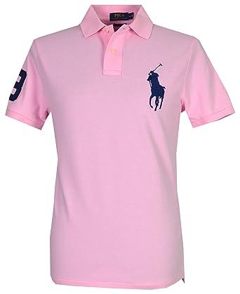 5cdbf6354e49 Ralph Lauren Men`s Big Pony Polo Shirt - Pink (L)  Amazon.co.uk  Clothing