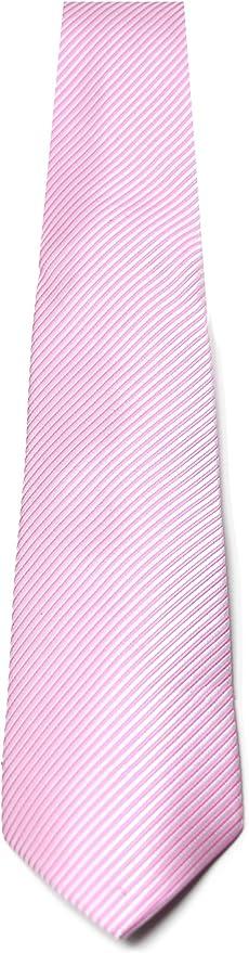 Oxford Collection Corbata de hombre Rosa a Rayas - 100% Seda ...