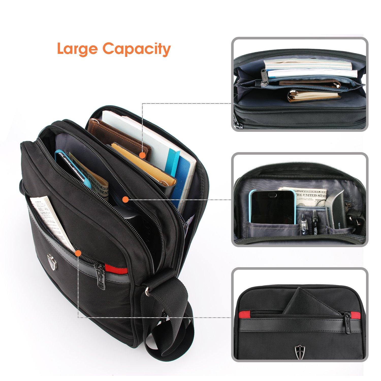Victoriatourist V7002 Vertical Shoulder Messenger Bag for iPad Tablet Upto 10.1 , Black