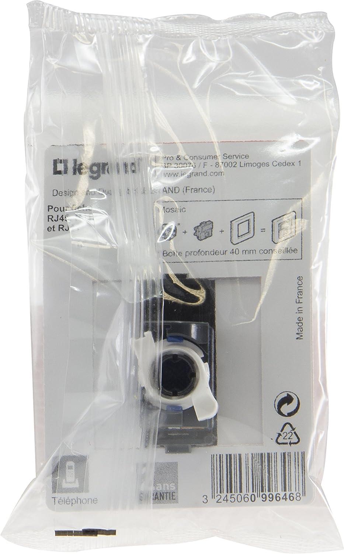 Prise encastr/ée RJ 45 multim/édia/: imprimante Cat 6 F//UTP Blanc t/él/évision ordinateur t/él/éphone 099646 Legrand LEG99646 Mosaic
