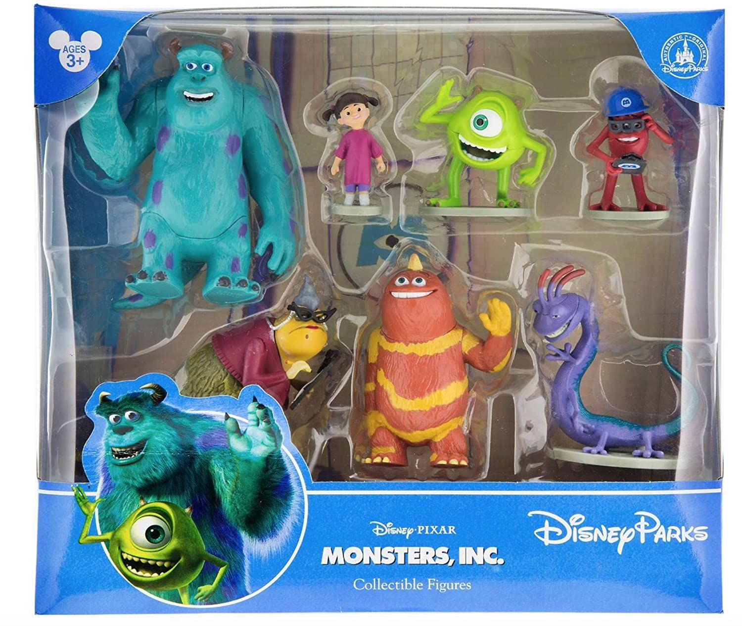 Disney Parks Monsters Inc  Collectible Figurine Playset Play Set Cake Topper