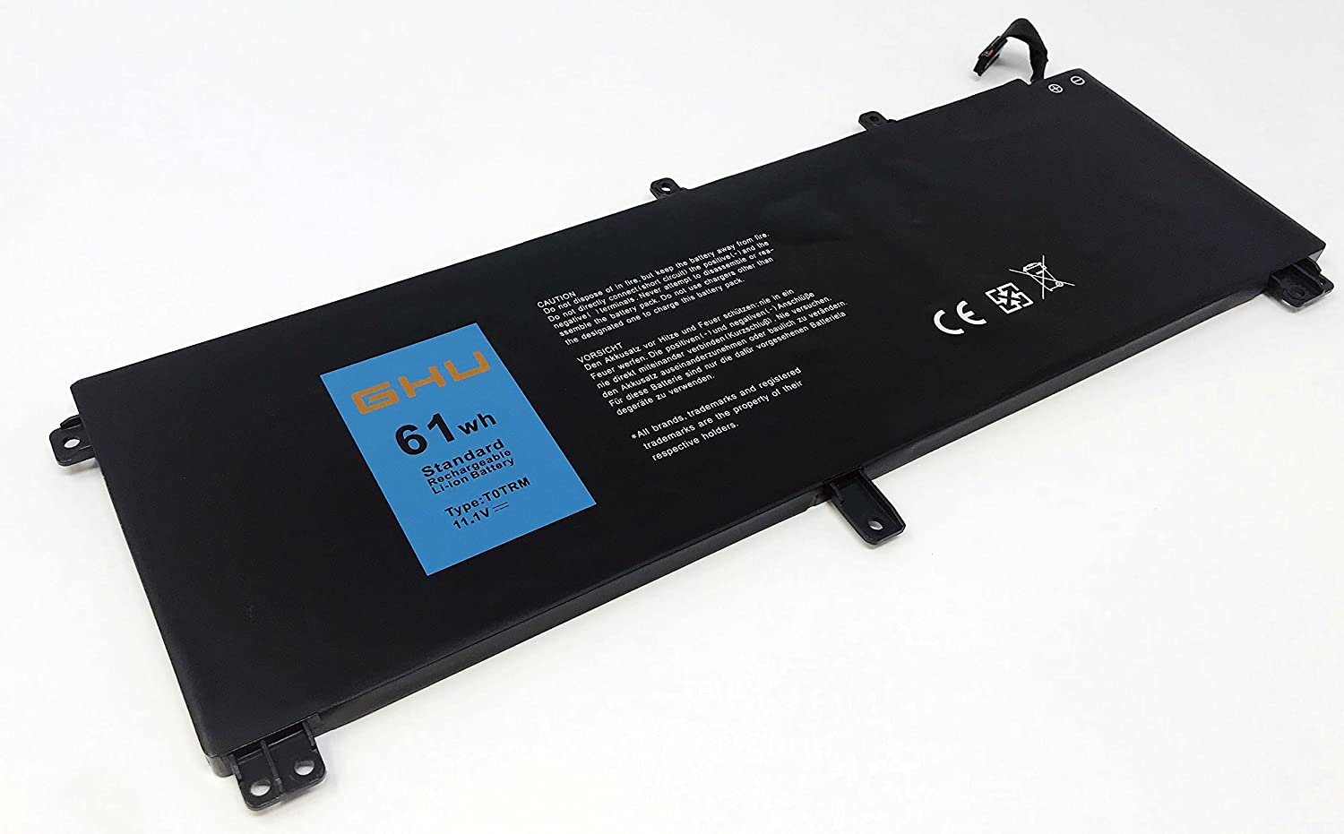 New GHU Battery H76MV T0TRM 61 WH Compatible with Dell Precision M3800, Compatible with Dell XPS 15 9530 Series Fit 245RR 0H76MY 07D1WJ 7D1WJ TOTRM Y757W 701WJ Y758W 11.1V
