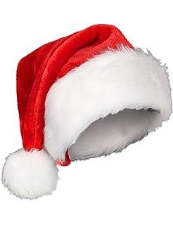 2 Cappelli di Babbo Natale Deluxe + 2 Fermagli per Capelli ad Albero ... b24ec044b011
