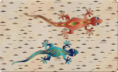 Toland Home Garden Geckos 18 x 30 Inch Decorative Southwest Floor Mat Desert Lizard Doormat