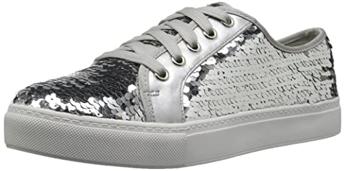 52a69efbb789 Dirty Laundry by Chinese Laundry Women s Josi Sneaker Silver Sequins 6 ...