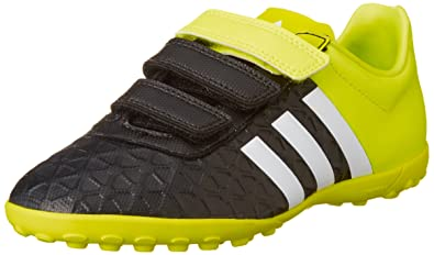 check out a54fe 7c5af Adidas ACE 15.4 TF J HL, black - yellow - white, 5 UK