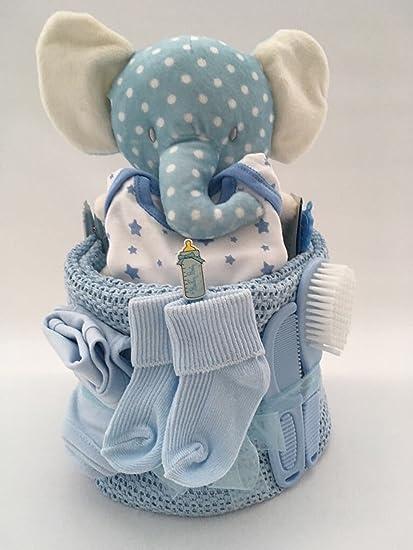 Baby Boy elefante - tarta de pañales para bebé regalo Babyshower ...