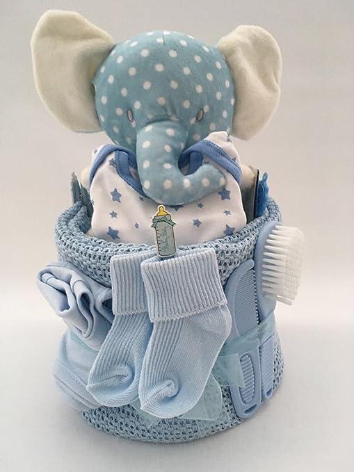 Baby Boy elefante – tarta de pañales para bebé regalo Babyshower