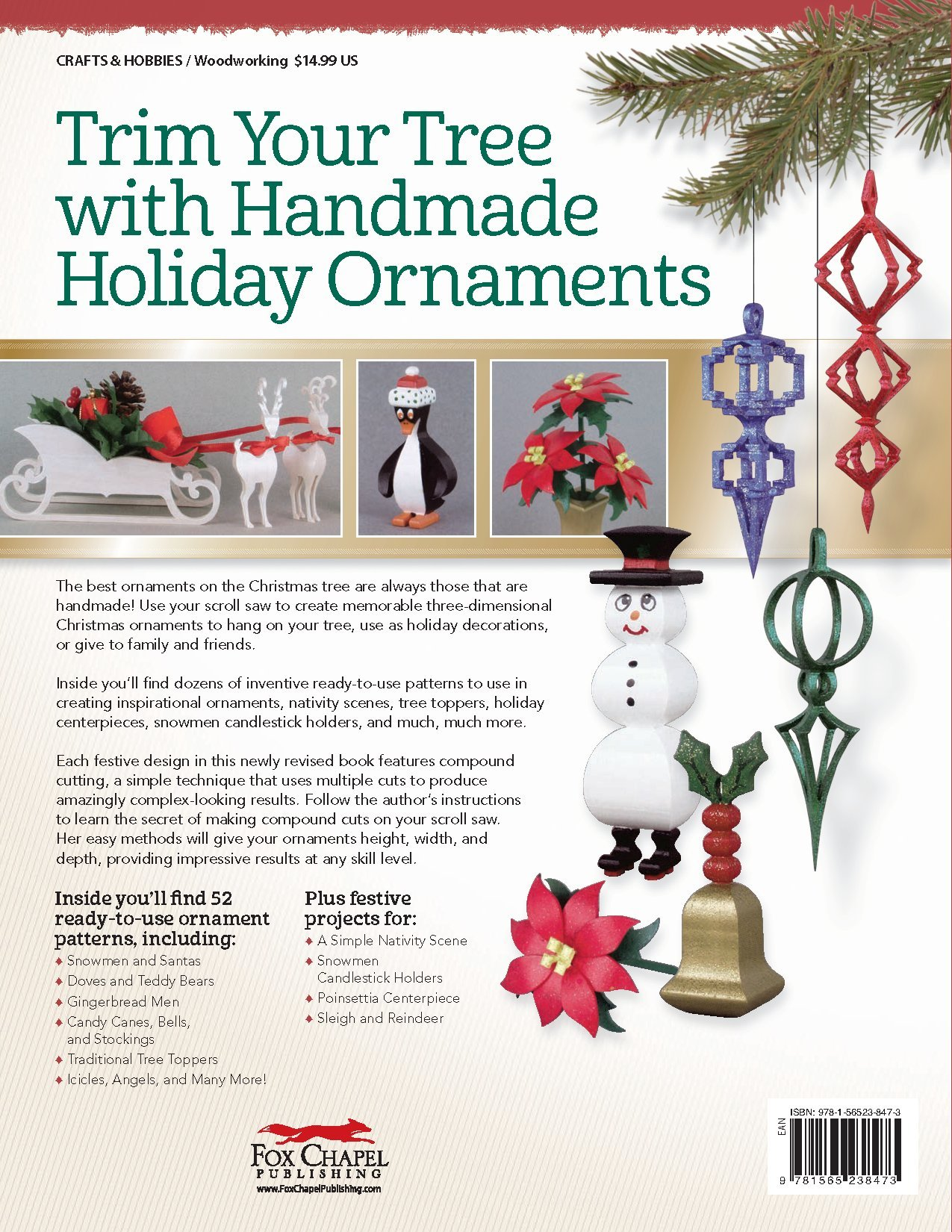 scroll saw christmas ornaments easy. compound christmas ornaments for the scroll saw, revised edition: easy-to-make \u0026 fun-to-give projects holidays (fox chapel publishing) 52 saw easy