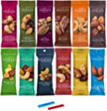 Sahale Snacks All Natural Nut Blends Grab And Go Variety 12-Flavors (1.5 oz x 12 CT Packs) with 2 Snack Clips