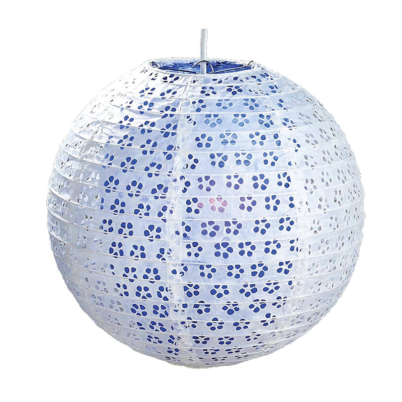 6924B 30cm White Double Lacy Paper Lantern Pendant Shade Blueberry