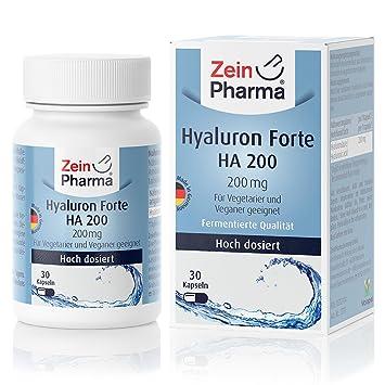 Ácido Hialurónico 200mg Forte zeinpharma Germany-fabricado en Alemania: Amazon.es: Salud y cuidado personal