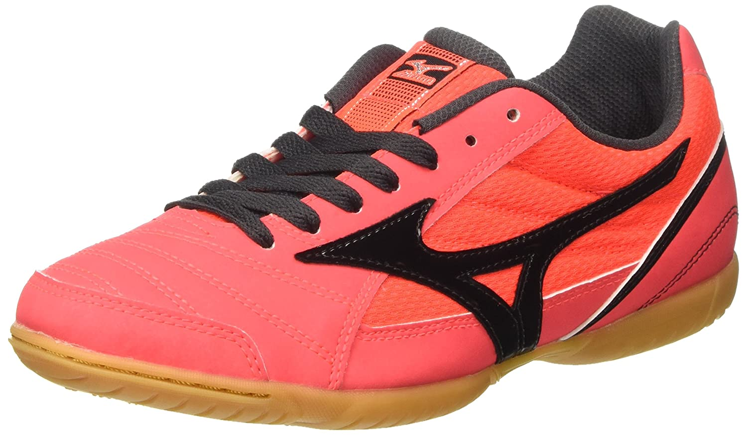 Mizuno Herren Sala Club in Fuszlig;ballschuhe  42 EU|Multicolore (Fierycoral/Black)