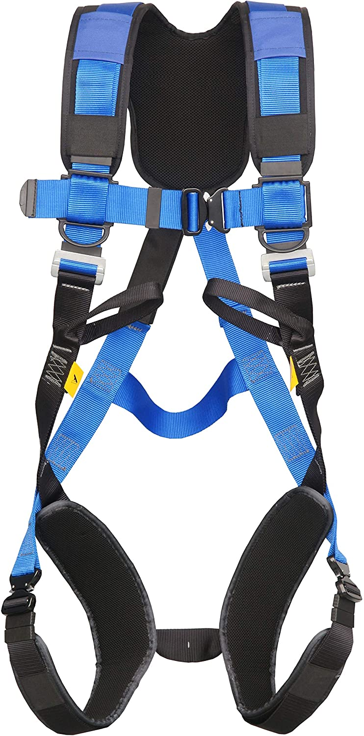 G-Force 2 Point Full Body Height Safety Fall Arrest Restraint Harness with Quick Release Buckles (M-XL) SafetyLiftinGear