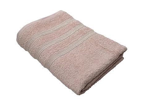 2 x metálico hilo rayas rosa plata bandas 100% algodón Toallas de baño y mano