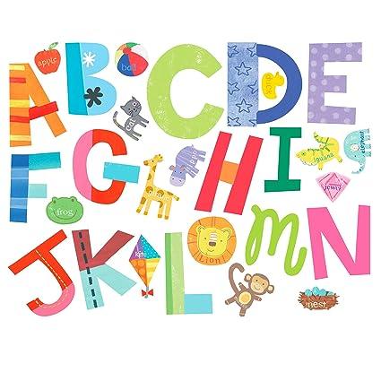 Amazon.com: Wallies Wall Decals, Alphabet Fun Wall Stickers ...