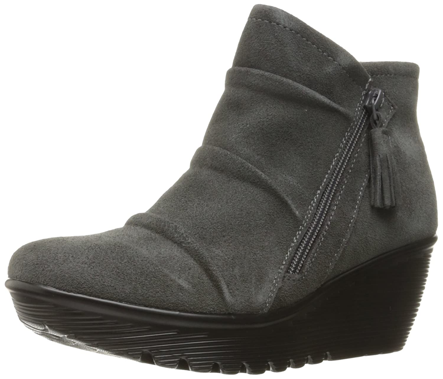 Skechers Womens Parallel-Triple Threat Ankle Bootie  5 B(M) US|Charcoal Suede