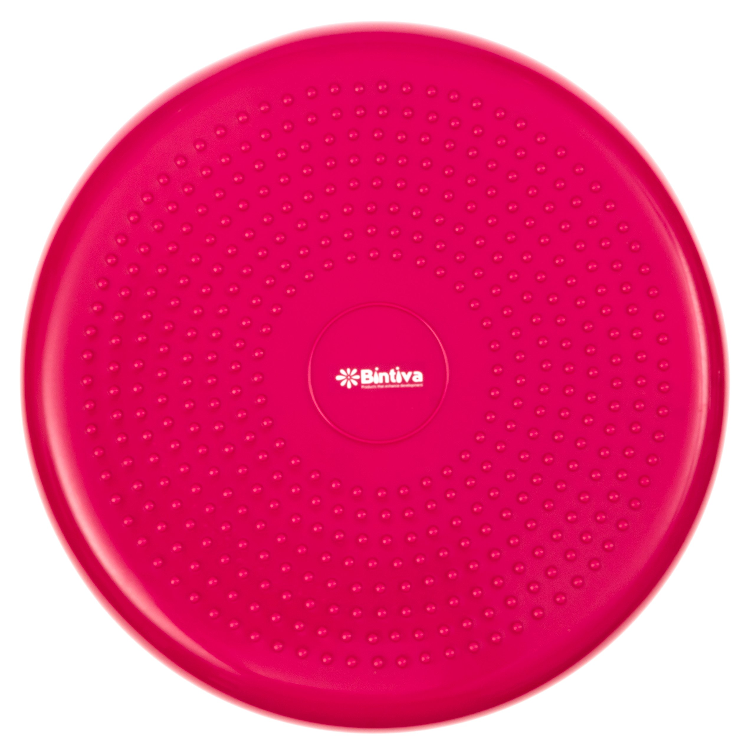 bintiva Inflated Stability Wobble Cushion/Exercise Fitness Core Balance Disc (Red) by bintiva (Image #2)